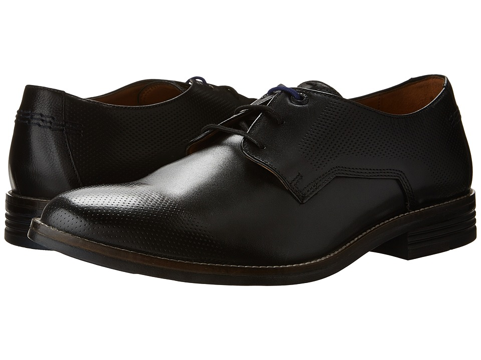 Hush Puppies Glitch Parkview (Black Leather Perf) Men