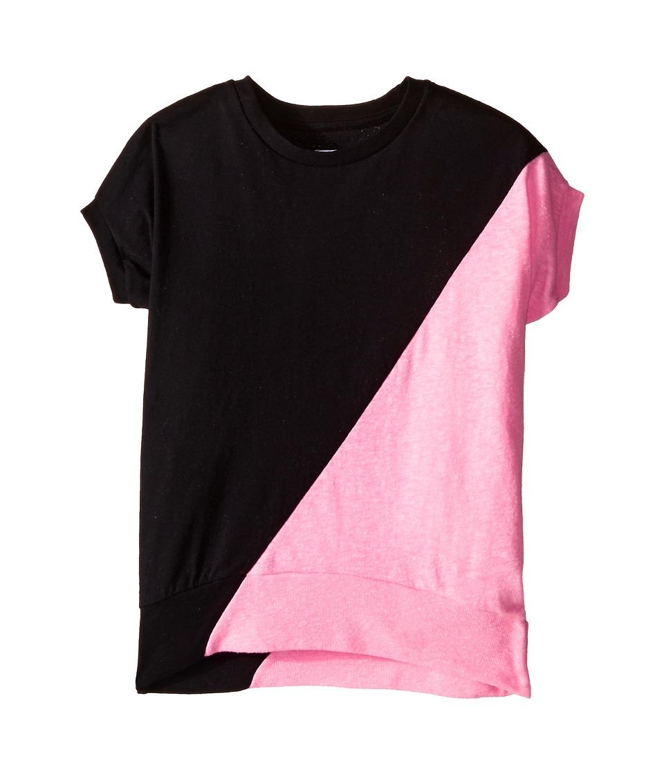 Nununu 1/2 1/2 Round Shirt Toddler/Little Kids Black/Pink Girls Clothing