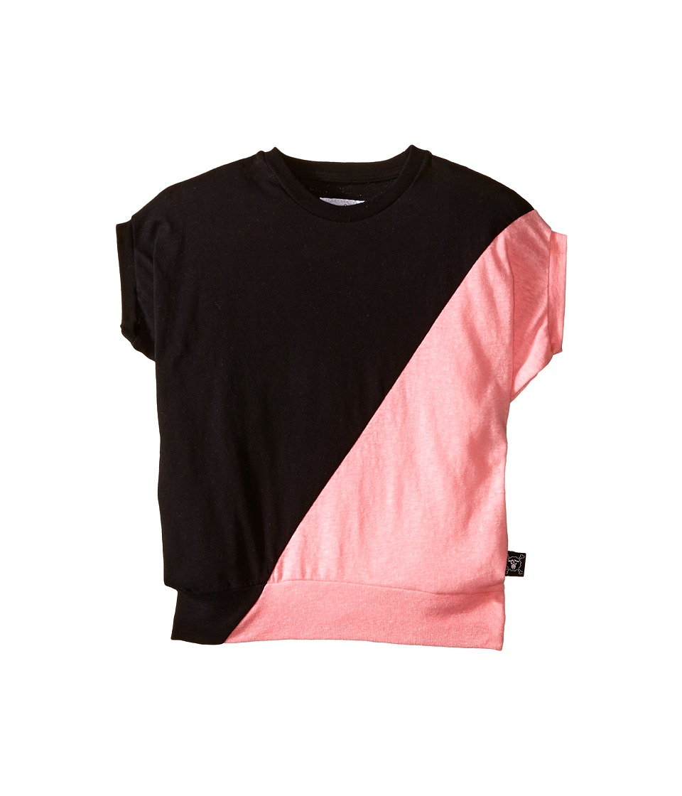 Nununu 1/2 1/2 Round Shirt Little Kids/Big Kids Black/Pink Girls Clothing