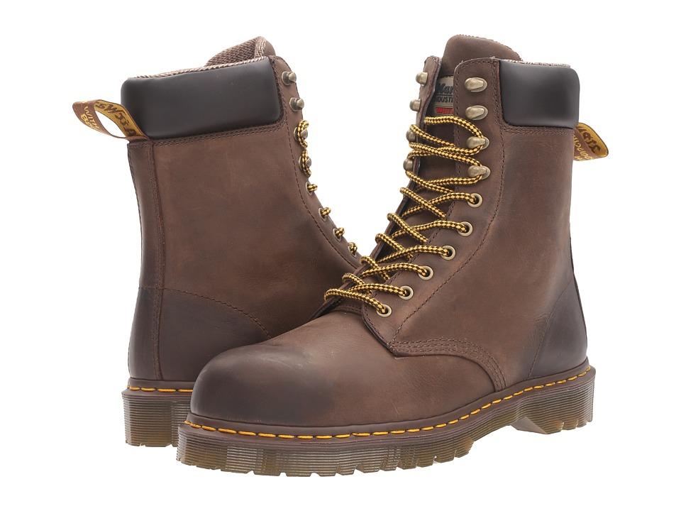 Dr. Martens Work Rufford Electrical Hazard Steel Toe 10-Tie Boot (Dark Brown Wyoming) Men