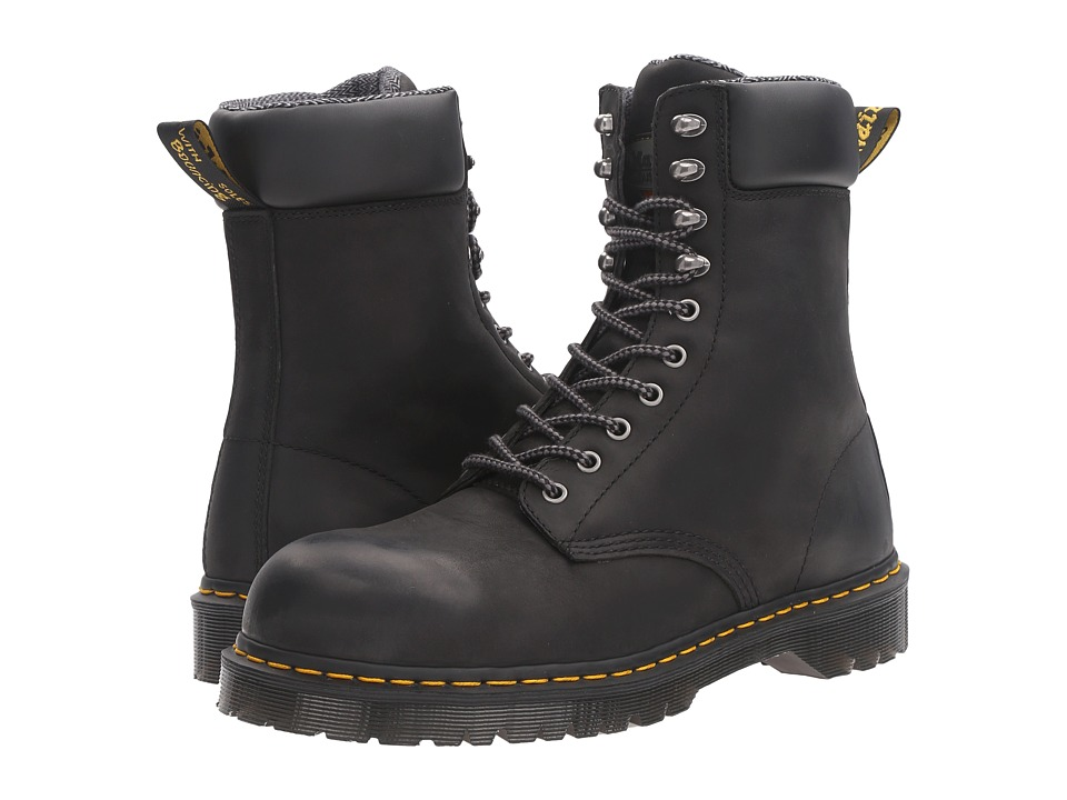 Dr. Martens Work Rufford Electrical Hazard Steel Toe 10-Tie Boot (Black Wyoming) Men