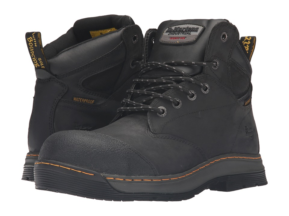 Dr. Martens Work - Deluge Electrical Hazard Waterproof Steel Toe 6-Eye Boot (Black Connection Waterproof) Men