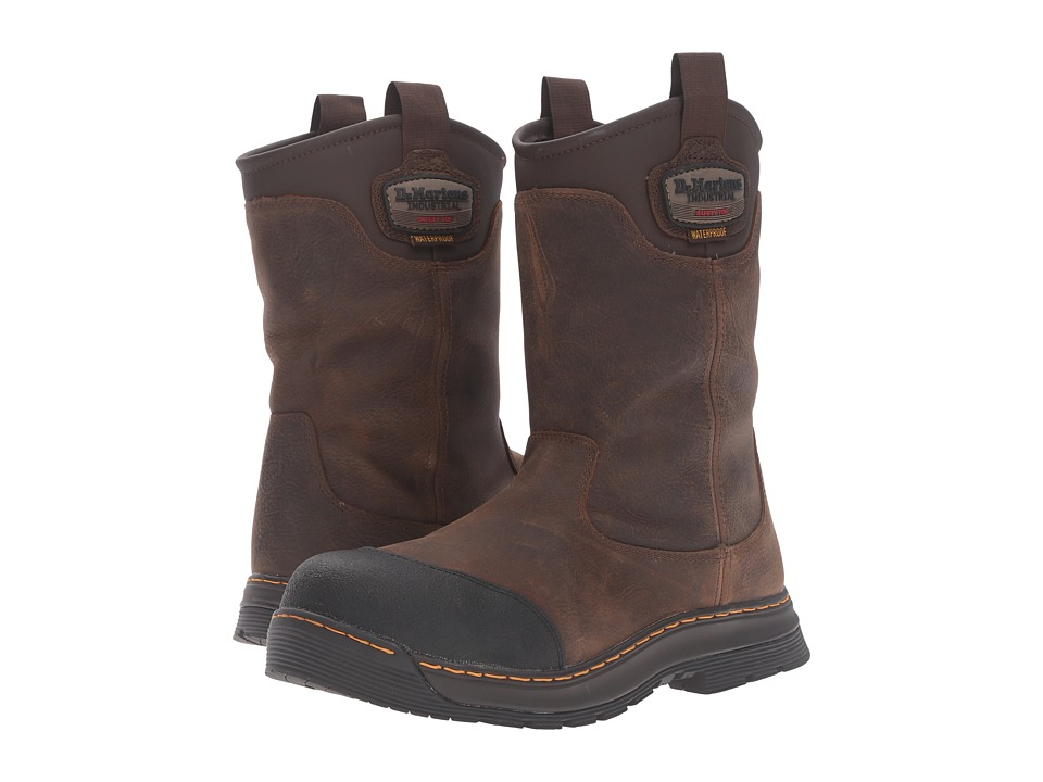 Dr. Martens Work - Rush Electrical Hazard Waterproof Composite Toe Rigger Boot (Brown Crisscross Waterproof) Men