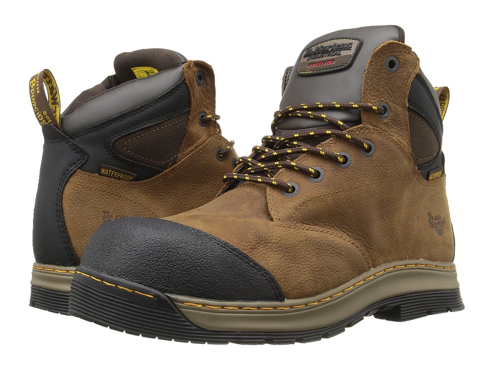 Dr. Martens Work Deluge Electrical Hazard Waterproof Steel Toe 6-Eye Boot (Brown Overlord Waterproof) Men