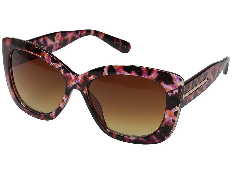 Steve Madden Easton Brown Purple Fashion Sunglasses
