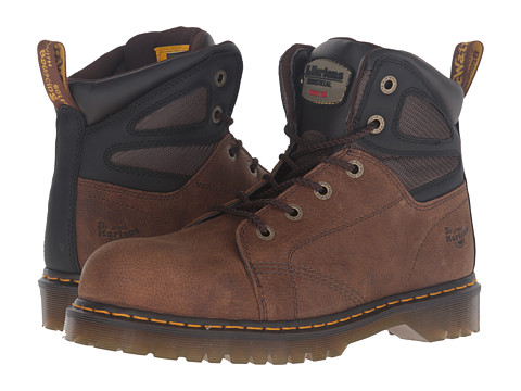 Dr. Martens Work Fairleigh Steel Toe 6-Eye Boot - Brown Overlord