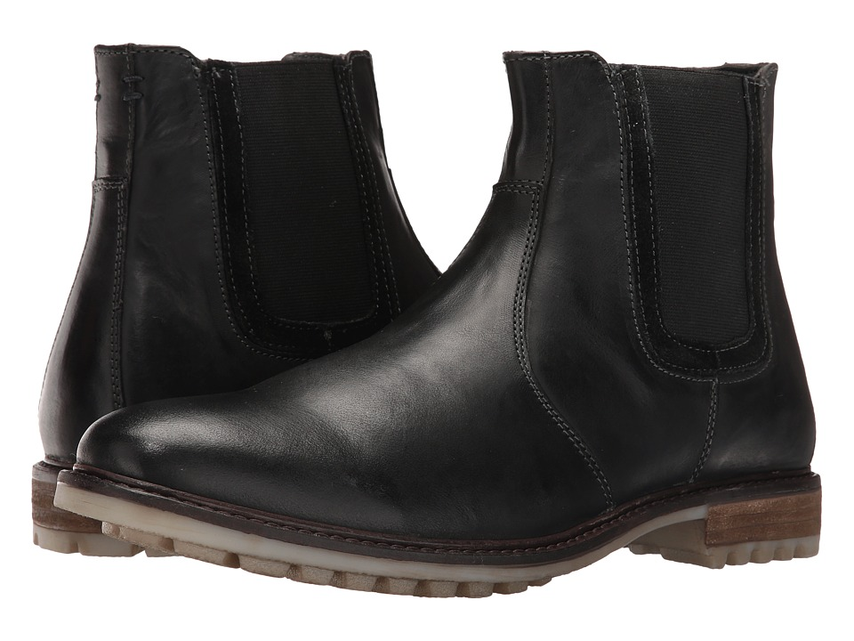Hush Puppies Beck Rigby (Black Leather) Men