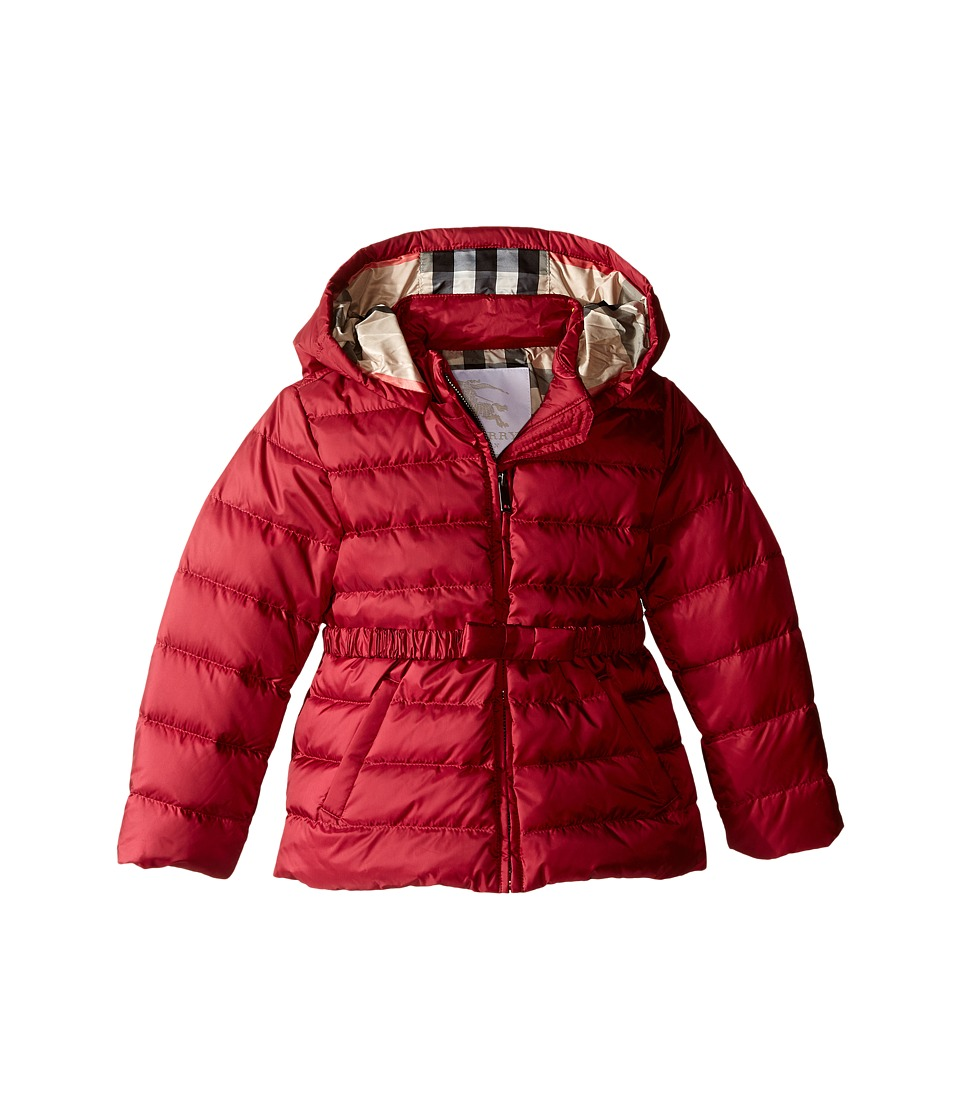 Burberry Kids - Janie Puffer Jacket (Infant/Toddler) (Dark Plum Pink) Girls Coat