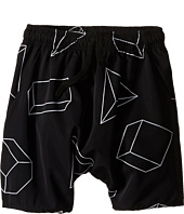 Nununu - Geometric Baggy Surf Shorts (Little Kids/Big Kids)