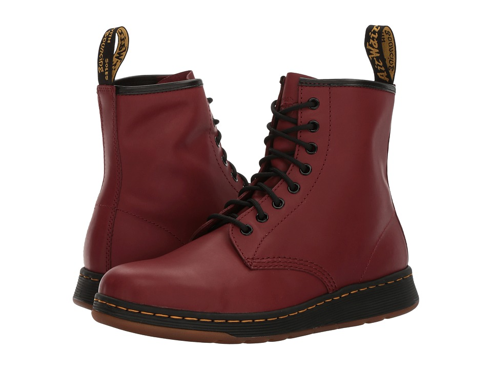 Dr. Martens Newton 8-Eye Boot (Cherry Red Temperley) Lace-up Boots