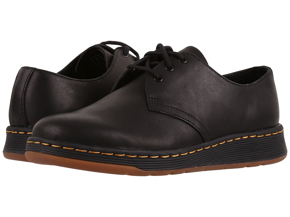 Dr. Martens Cavendish 3-Eye Shoe (Black Temperley) Lace up casual Shoes