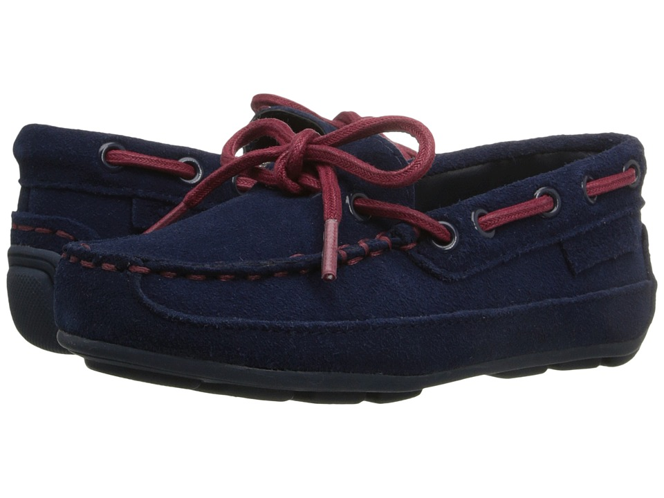Cole Haan Kids Grant Driver Toddler/Little Kid Navy Suede/Red Boys Shoes