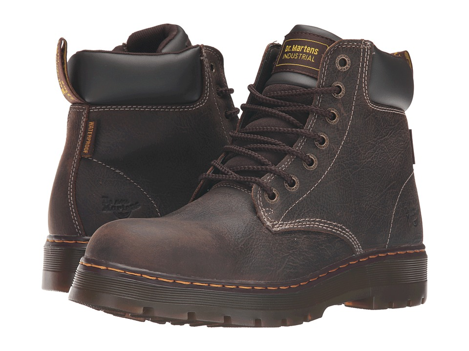 Dr. Martens Work - Winch Service Waterproof 7-Eye Boot (Brown Crisscross Waterproof) Men