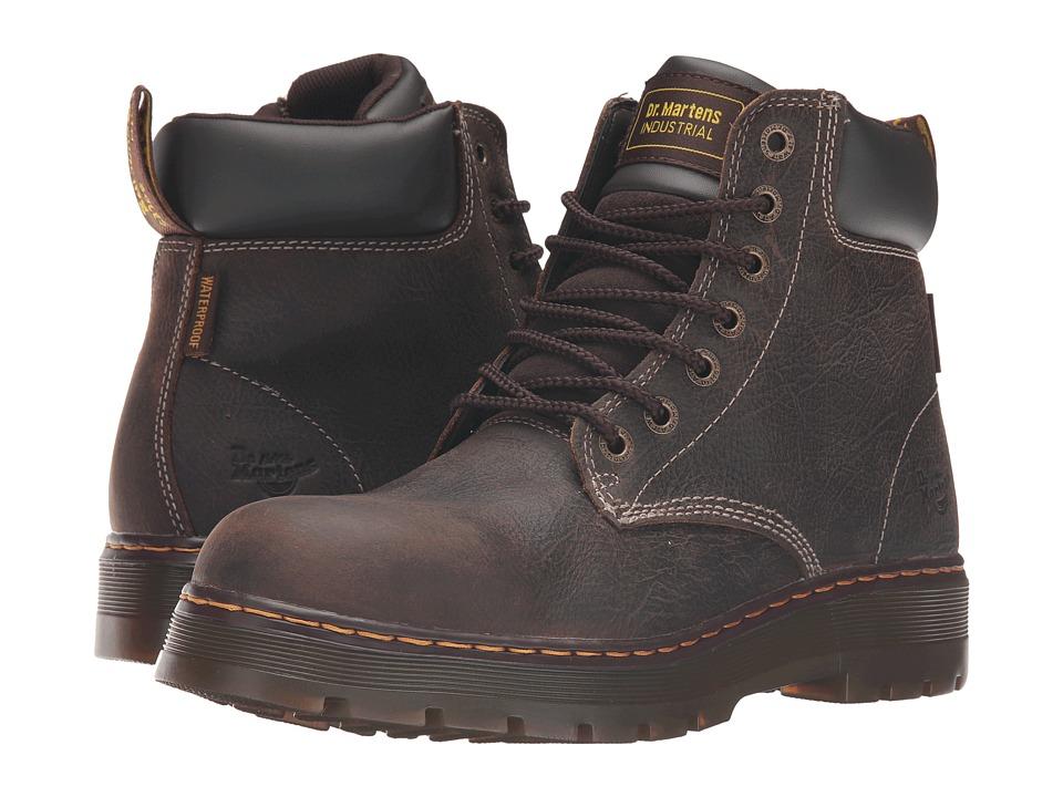 Dr. Martens Work - Winch Service Waterproof 7-Eye Boot (Brown Crisscross Waterproof) Men