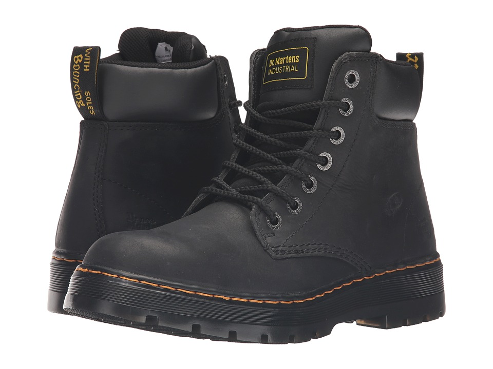 Dr. Martens Work - Winch Service 7-Eye Boot (Black Wyoming) Men