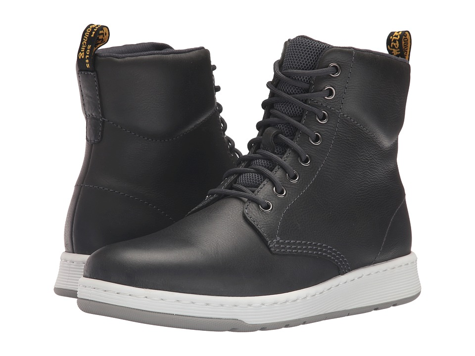 Dr. Martens Rigal 8-Eye Boot (Graphite Grey Carpathian/Mesh) Lace-up Boots