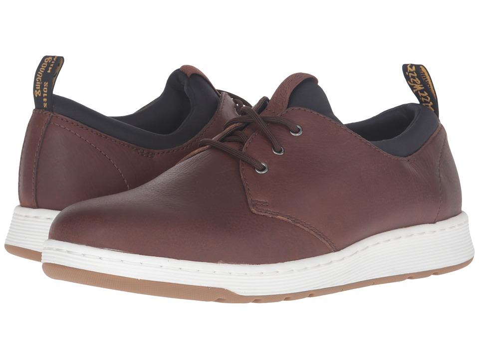 Dr. Martens Solaris 3-Eye Shoe (Tan Carpathian/Black Lycra) Lace up casual Shoes