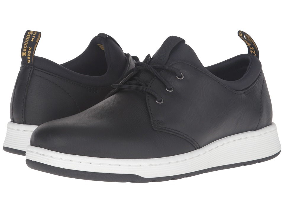 Dr. Martens Solaris 3-Eye Shoe (Black Carpathian/Lycra) Lace up casual Shoes