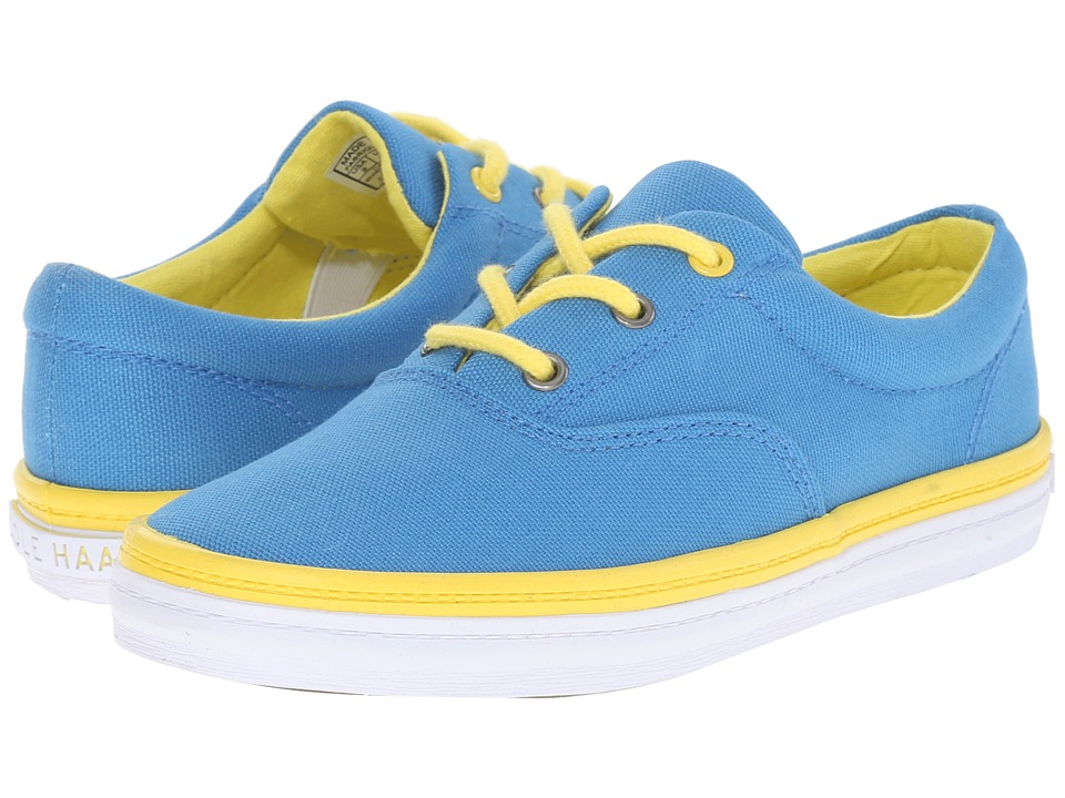 Cole Haan Kids Pinch Kelley Little Kid/Big Kid Mediterranean Blue Canvas/Yellow Kids Shoes