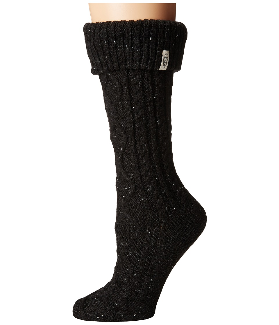 Ugg Shaye Tall Rain Boot Socks (Black) Women's Knee High ...