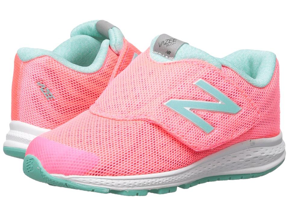 New Balance Kids - Vazee Rush v2 (Infant/Toddler) (Pink/Teal) Girls Shoes
