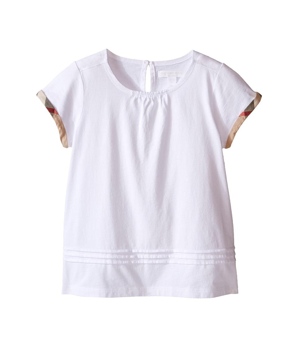 Burberry Kids - Gisselle (Little Kid/Big Kid) (White) Girl's Short Sleeve Pullover