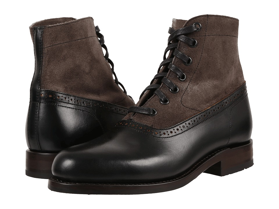 Victorian Men's Shoes & Boots- Lace Up, Spats, Chelsea, Riding Wolverine - Marcelle Black Multi Leather Womens Lace-up Boots $320.00 AT vintagedancer.com