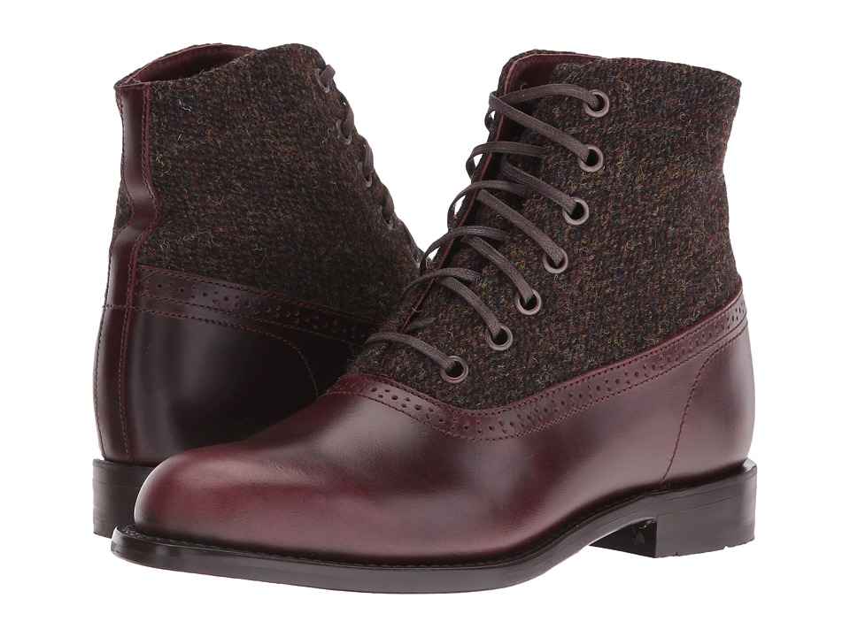 Steampunk Boots and Shoes for Men Wolverine - Marcelle Brown Multi Leather Womens Lace-up Boots $320.00 AT vintagedancer.com