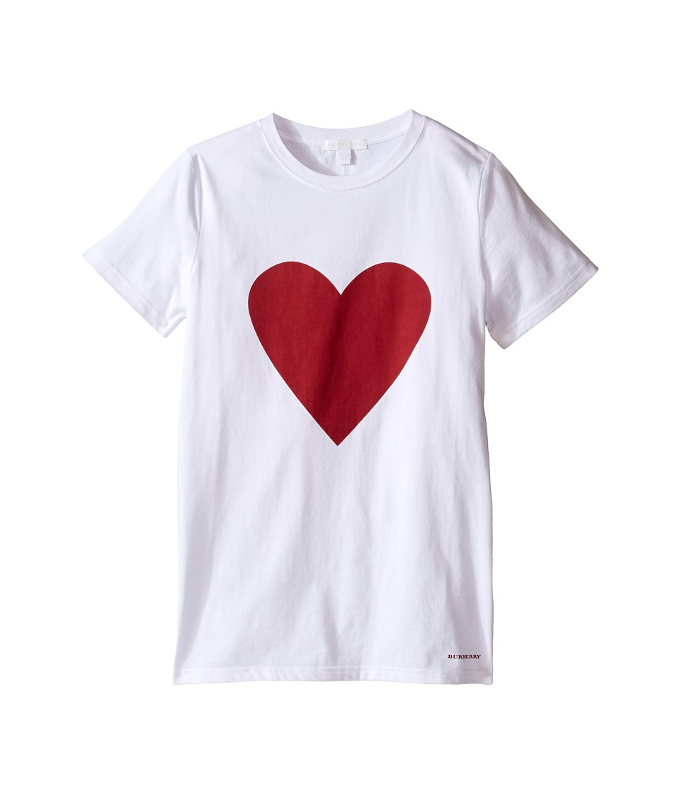 Burberry Kids - Love Heart (Little Kid/Big Kid) (White) Girl's T Shirt