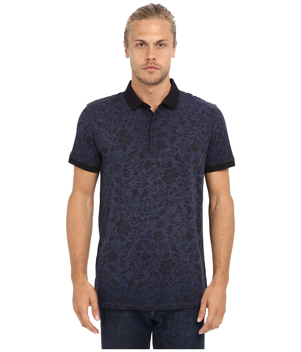 BOSS Orange Phlox Polo Navy Mens Short Sleeve Pullover