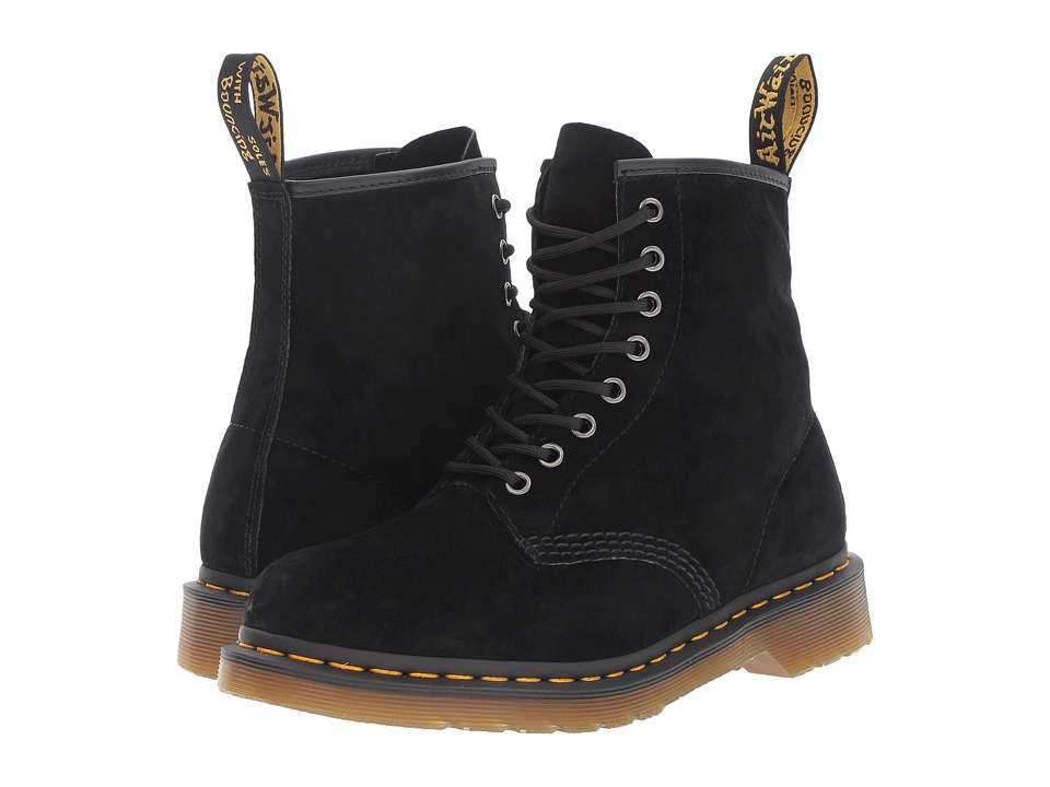 Dr. Martens 1460 (Black Soft Buck) Lace-up Boots