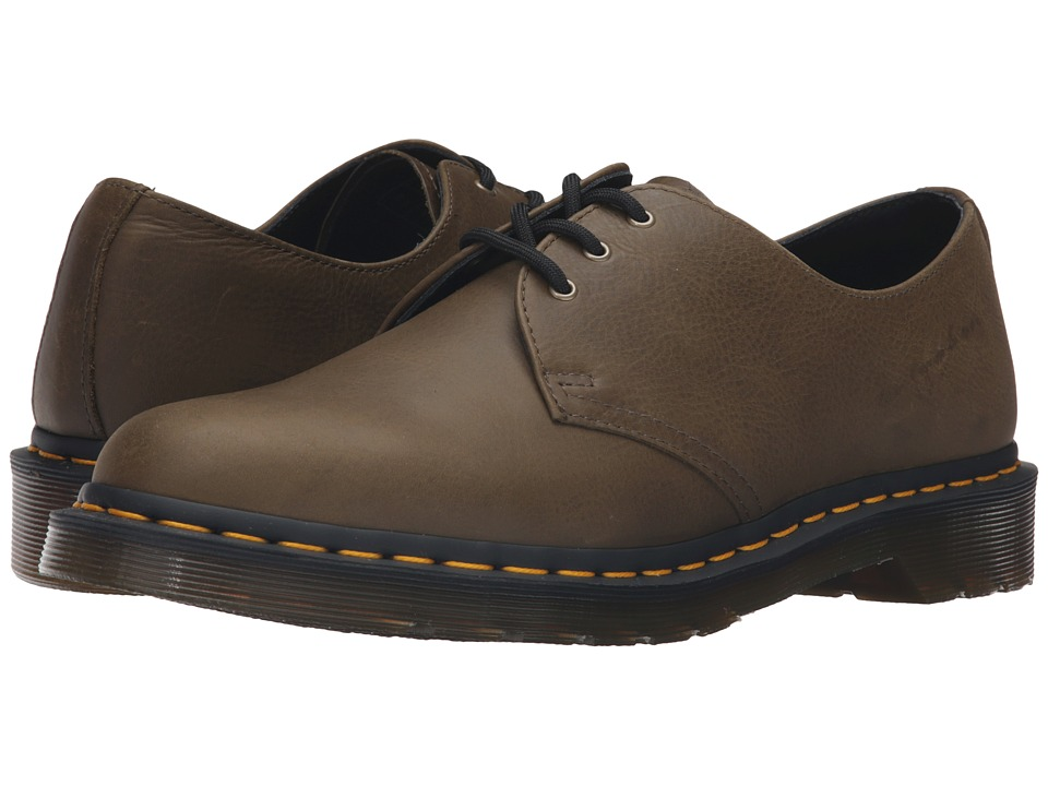 Dr. Martens 1461 3-Eye Gibson (Grenade Green Carpathian) Lace up casual Shoes