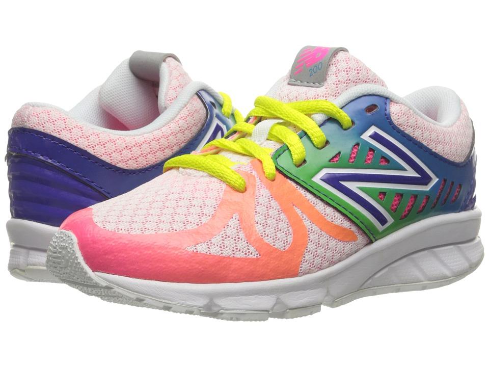 New Balance Kids - 200V1 (Little Kid) (White/Rainbow) Girls Shoes