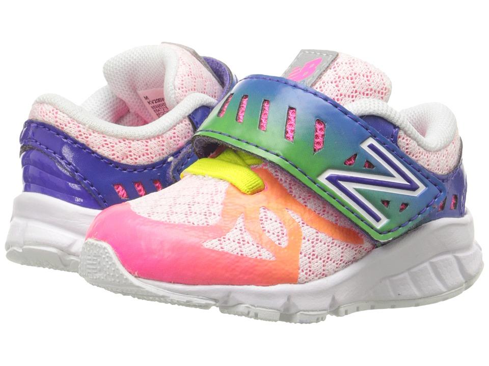 New Balance Kids - 200V1 (Infant/Toddler) (White/Rainbow) Girls Shoes