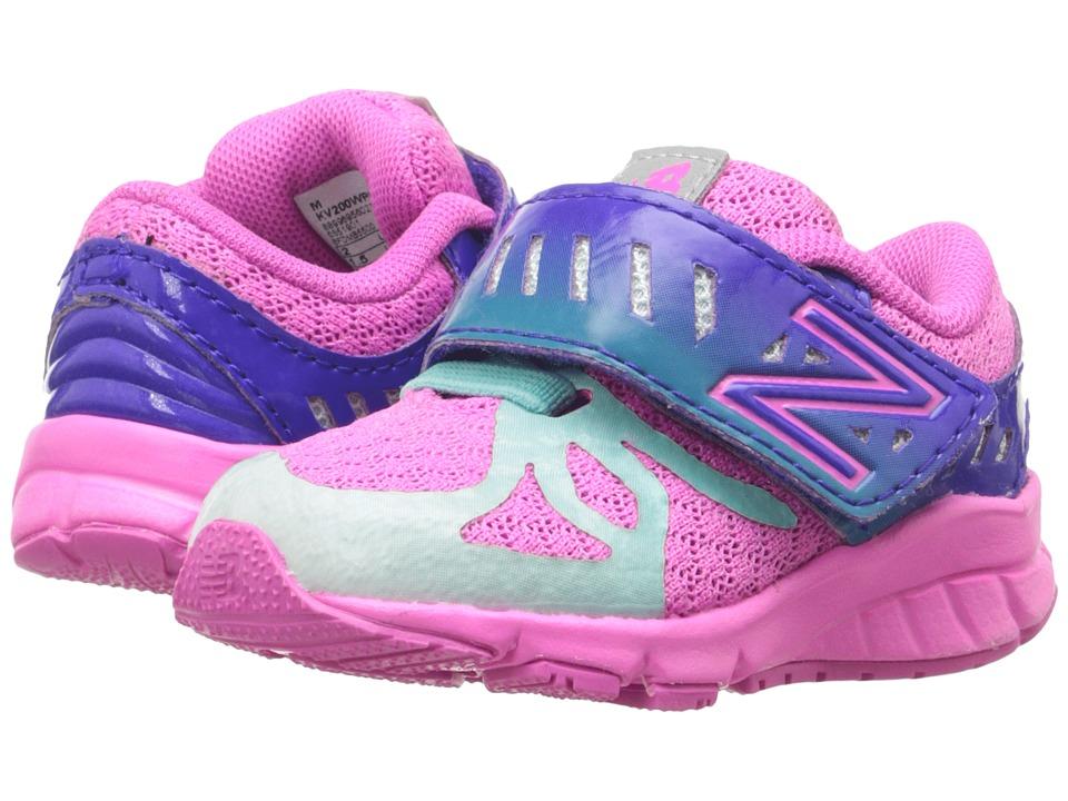 New Balance Kids - 200V1 (Infant/Toddler) (Pink/Green) Girls Shoes