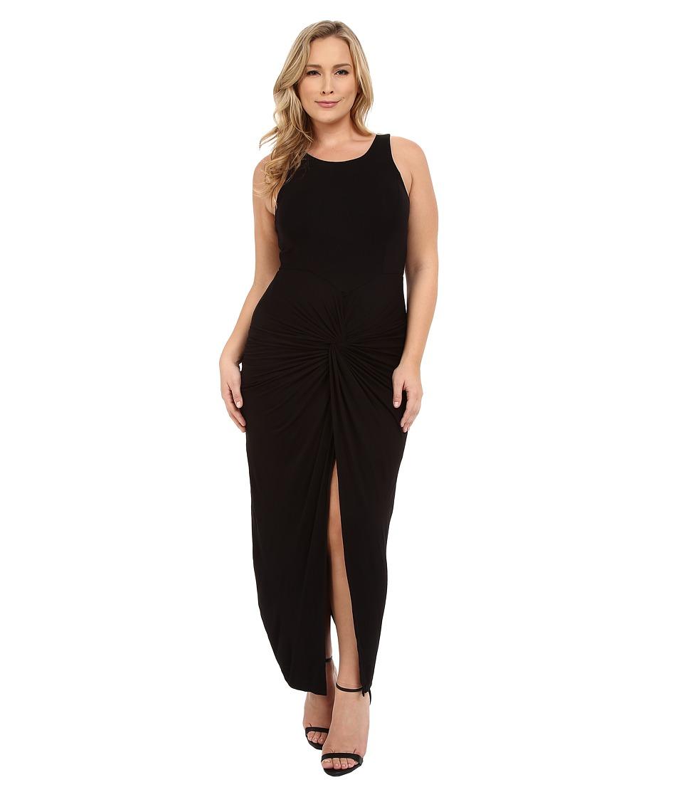 Christin Michaels - Plus Size Vivian Tank Maxi Dress with Twist Detail (Black) Women's Dress plus size,  plus size fashion plus size appare