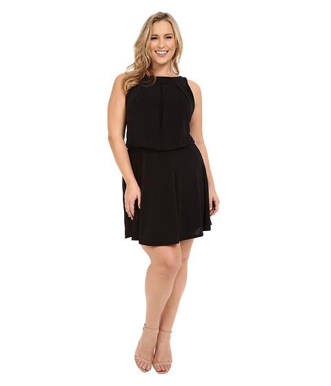 Christin Michaels - Plus Size Sloane Dress with Flare Skirt (Black) Women's Dress