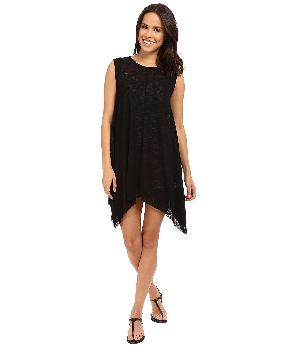 Culture Phit Alexa Shark Hem Cap Sleeve Dress Black Womens Dress