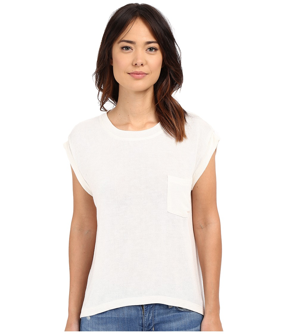 Culture Phit Mayce T Shirt Sweater with Pocket White Womens Sweater