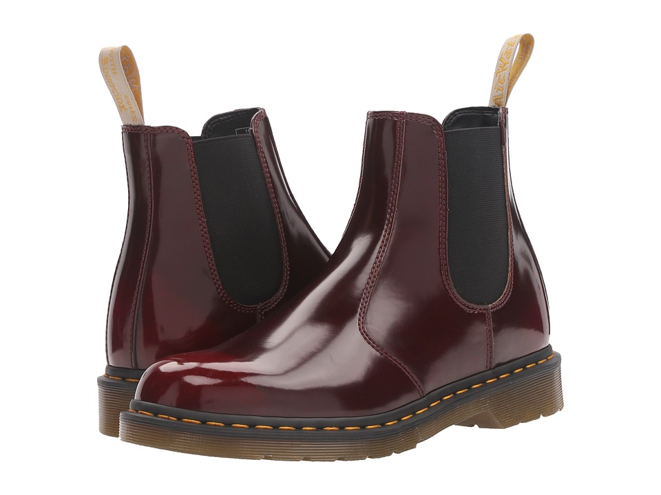 Dr. Martens 2976 Vegan Chelsea Boot (Cherry Red Cambridge Brush) Lace-up Boots