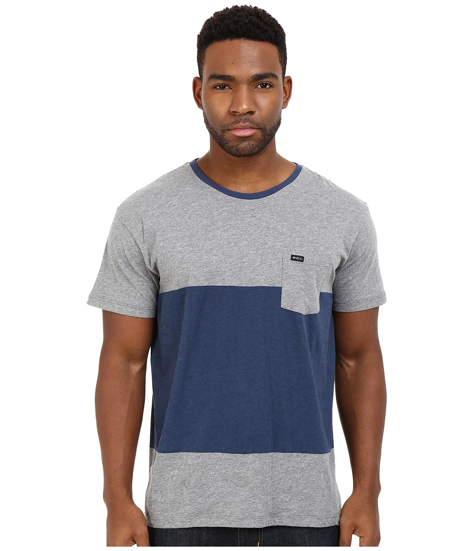 RVCA Block Up Crew Athletic Heather Mens Clothing