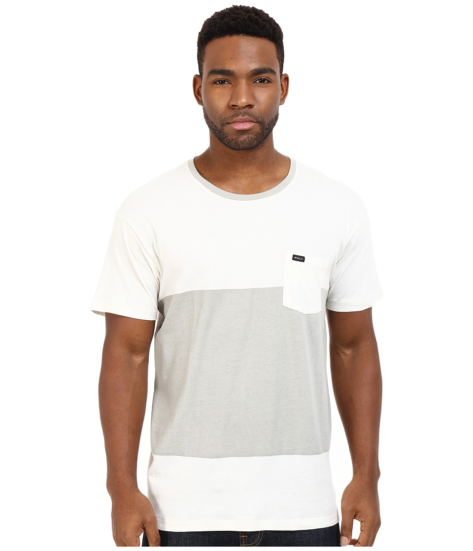 RVCA Block Up Crew Vintage White Mens Clothing