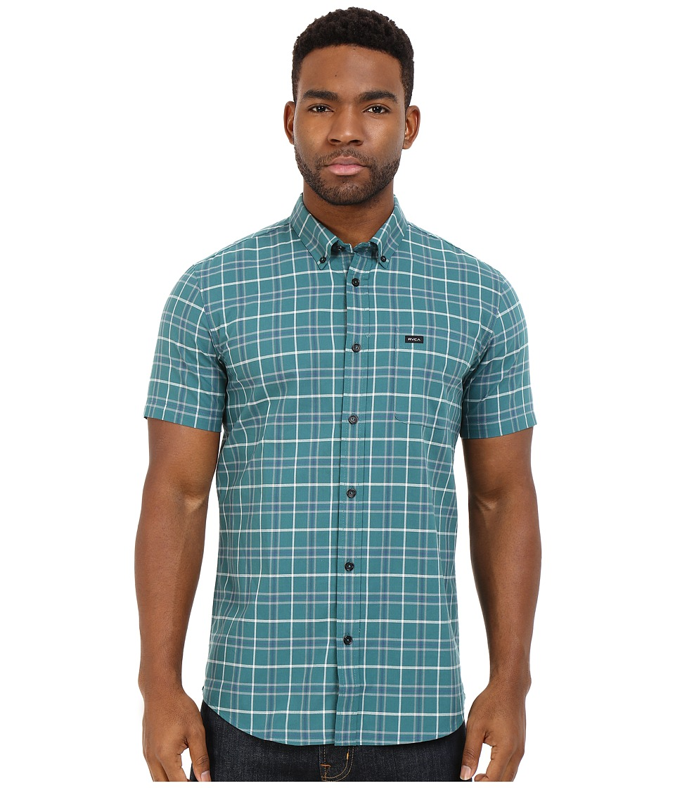 RVCA Thatll Do Plaid Short Sleeve Woven Pacific Mens Clothing