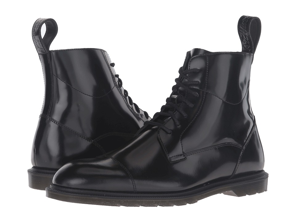 Dr. Martens Winchester 7-Eye Zip Boot (Black Polished Smooth) Lace-up Boots