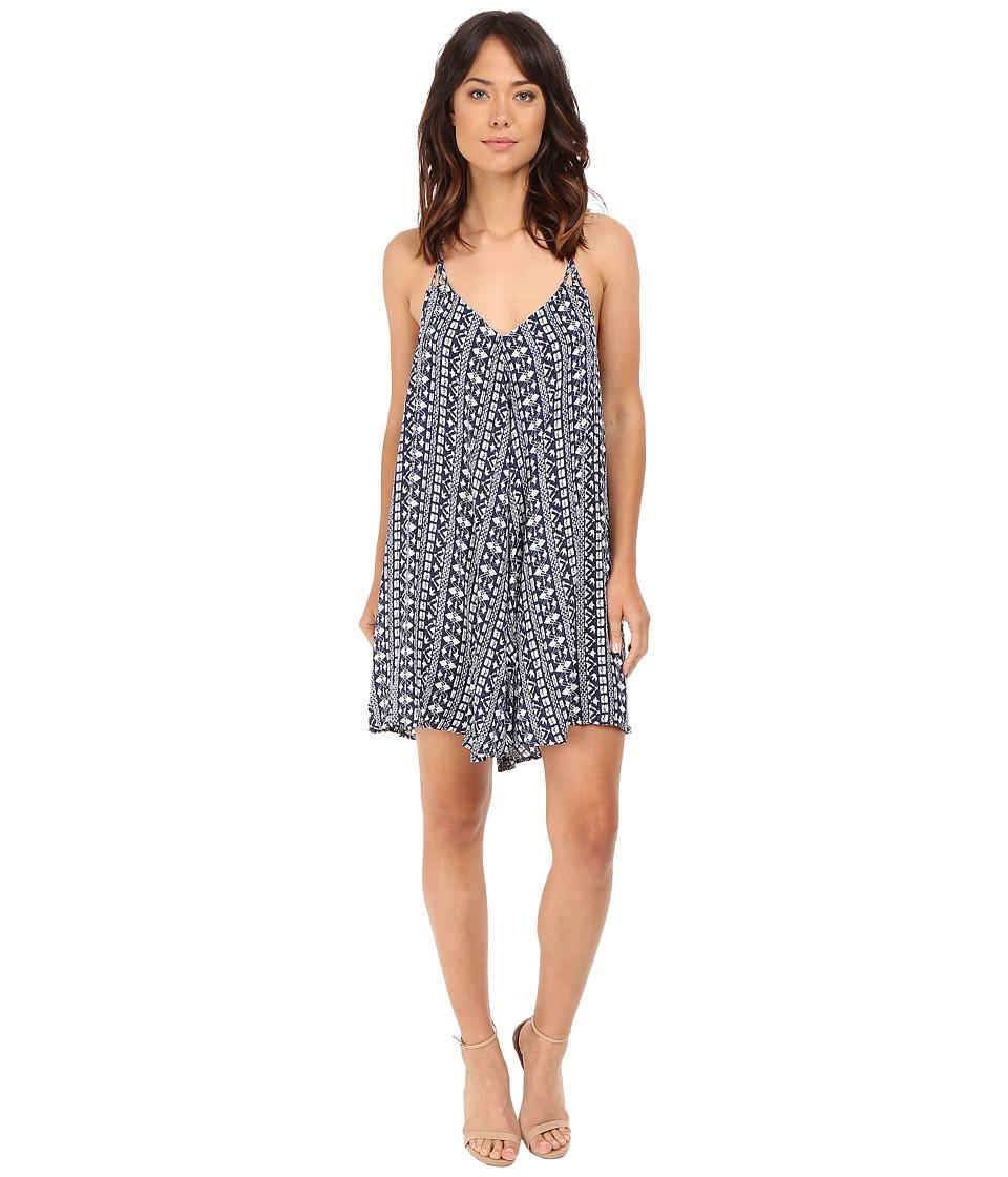 Brigitte Bailey Brinley Spaghetti Strap Dress Blue/Off White Womens Dress