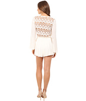 Brigitte Bailey - Priya Long Sleeve Romper with Back Lace Detail
