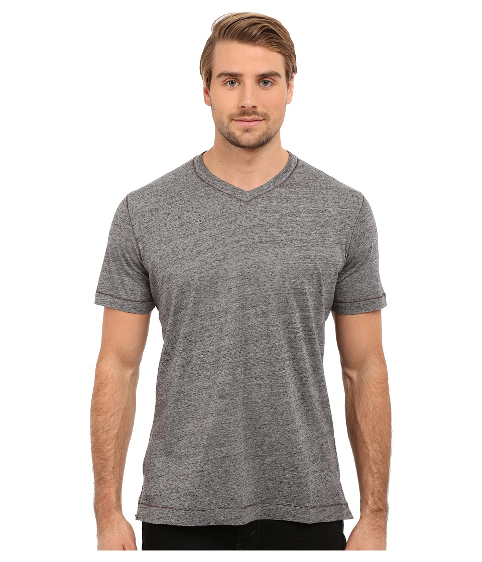 Robert Graham Traveler Tee (Heather Black) Men