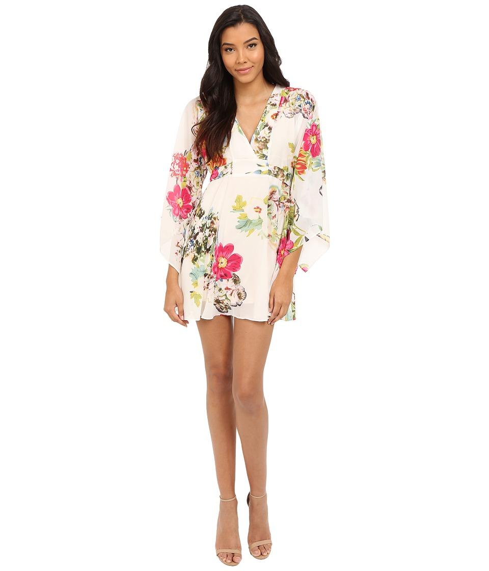 Brigitte Bailey Cora Kimono Dress with Tie Waist Cream Womens Dress