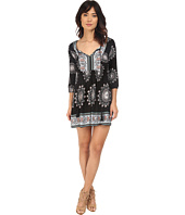 Brigitte Bailey - Keegan 3/4 Sleeve Flowy Dress with Front Tie