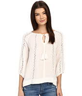 Brigitte Bailey - Maren 3/4 Sleeve Top with Lace Detail